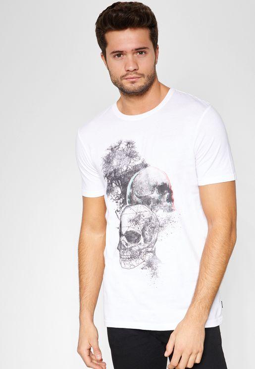 Gerard Bla Print Crew Neck  T-Shirt