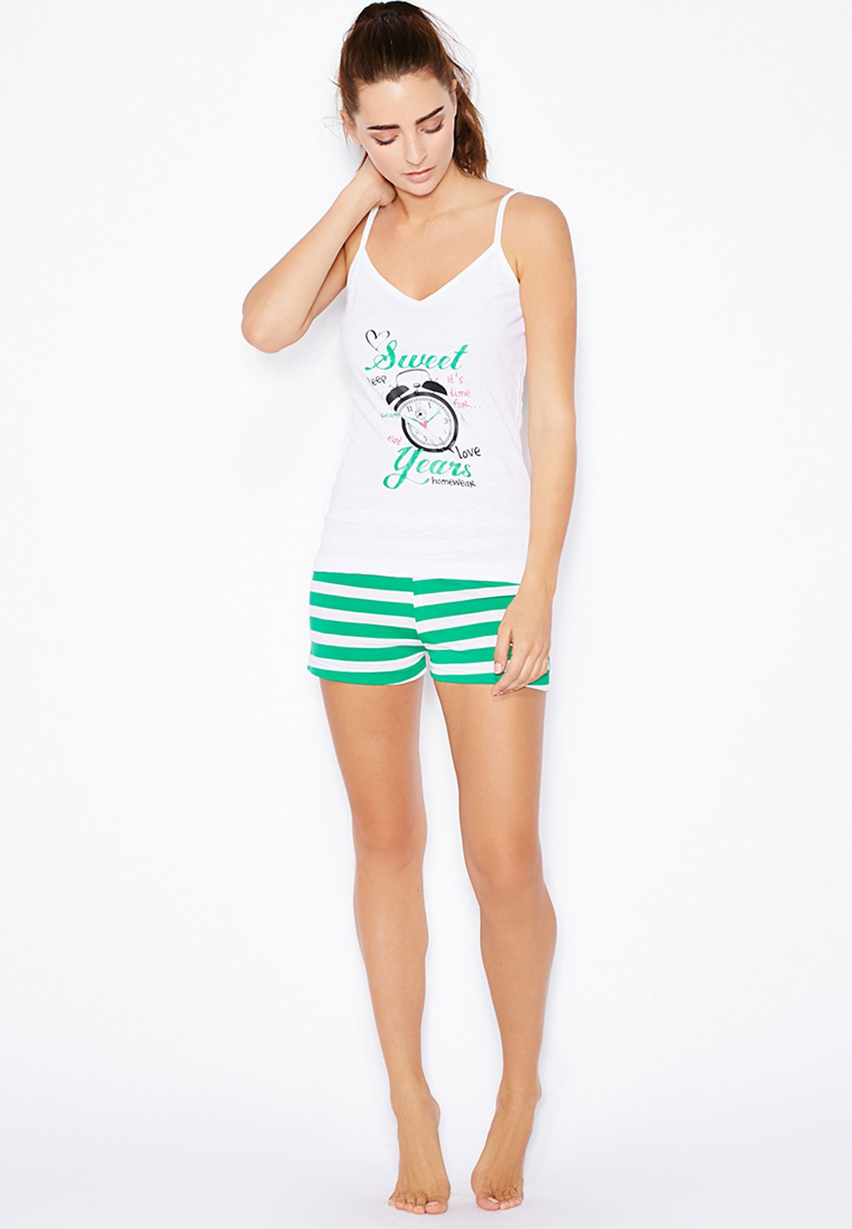 e8d0bc4cee0 Shop Chancellor white Shorts  amp  Cami Pyjama Set for Women in Oman ...
