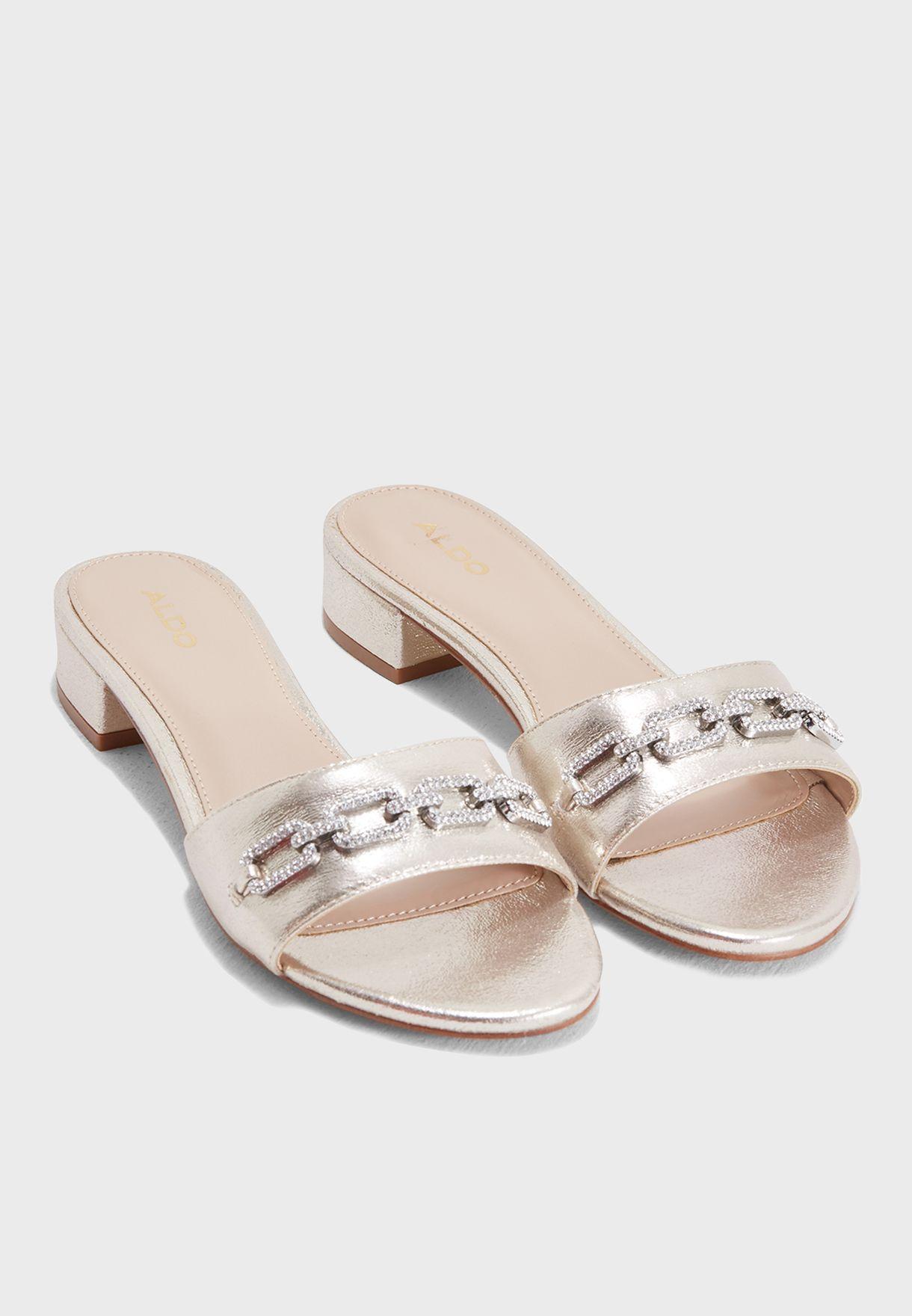 216b1fed087 Shop Aldo gold Galiaclya Sandal GALIACLYA82 for Women in UAE ...