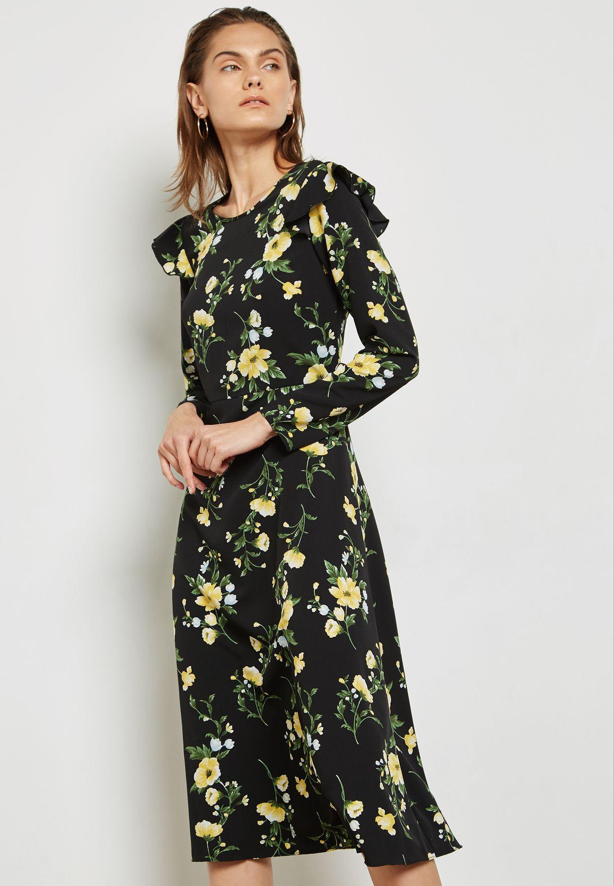 a56820ec90 Dorothy Perkins Petite Floral Midi Dress - raveitsafe