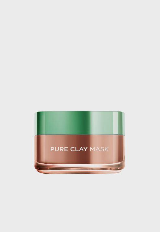 Pure Clay Red Mask With Red Algae, Exfoliates And Brightens Pores, 50 Ml