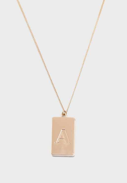 Umecia Necklace With A - Initial Pandent