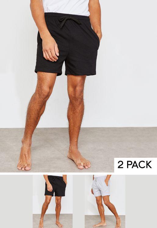 مجموعة من 2 سروال على شكل شورت