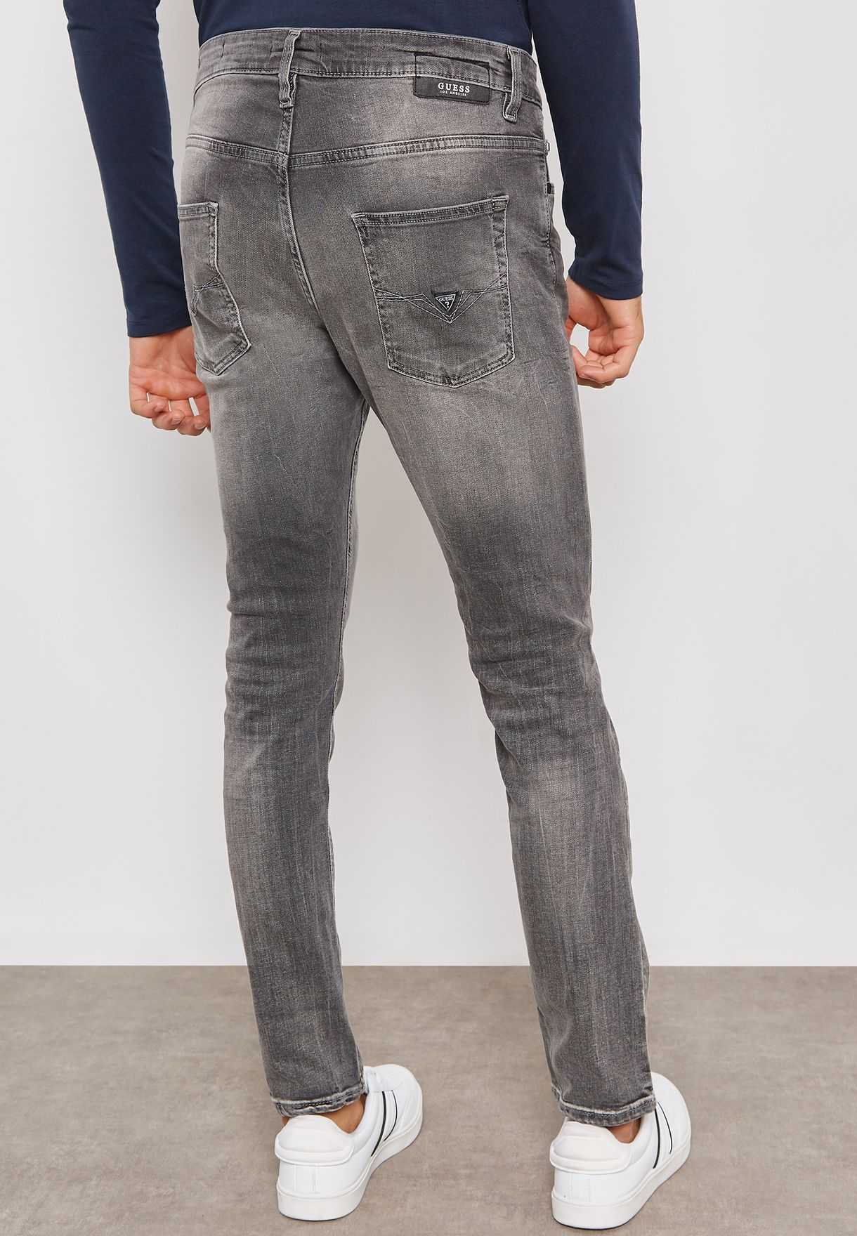 68902e27c37498 Shop Guess grey Chris Skinny Fit Jeans M83A27D37S0 for Men in Kuwait ...