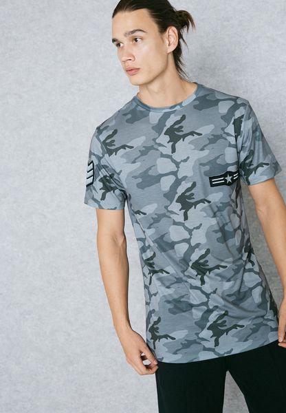 Badged Print T-Shirt