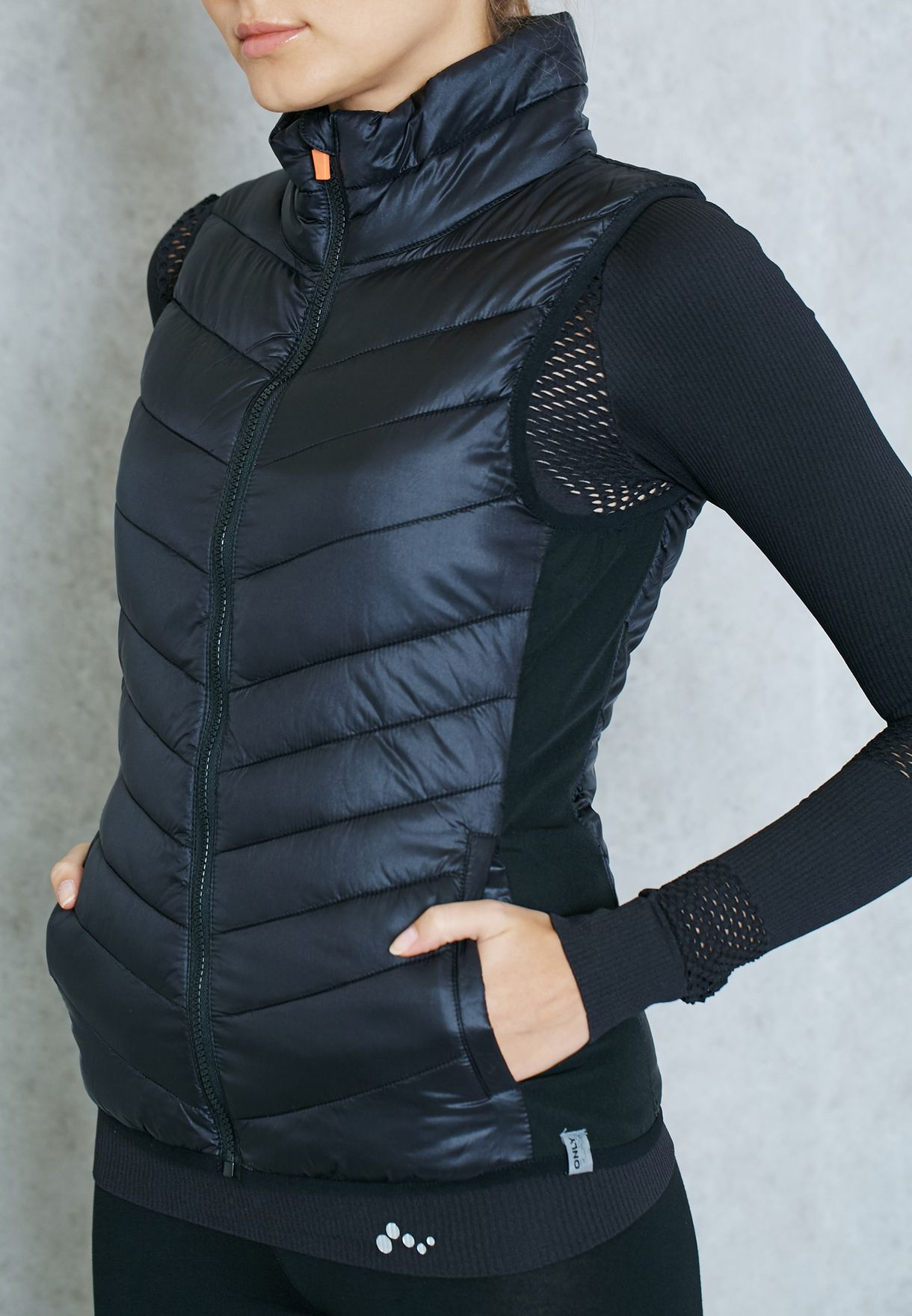 8e2f885e75becc Shop Only play black Quilted Jacket for Women in Kuwait ...
