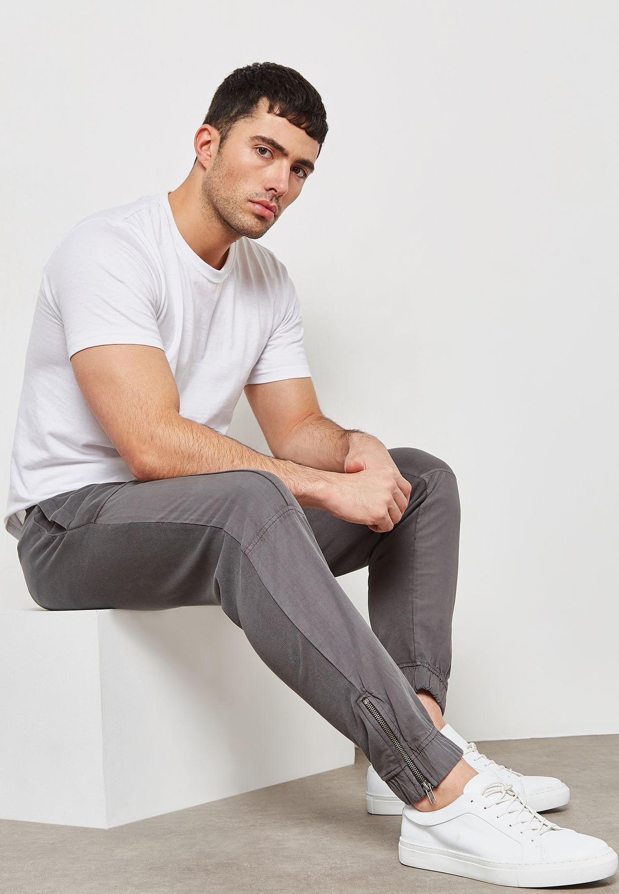 Contrast Pannel Sweatpants