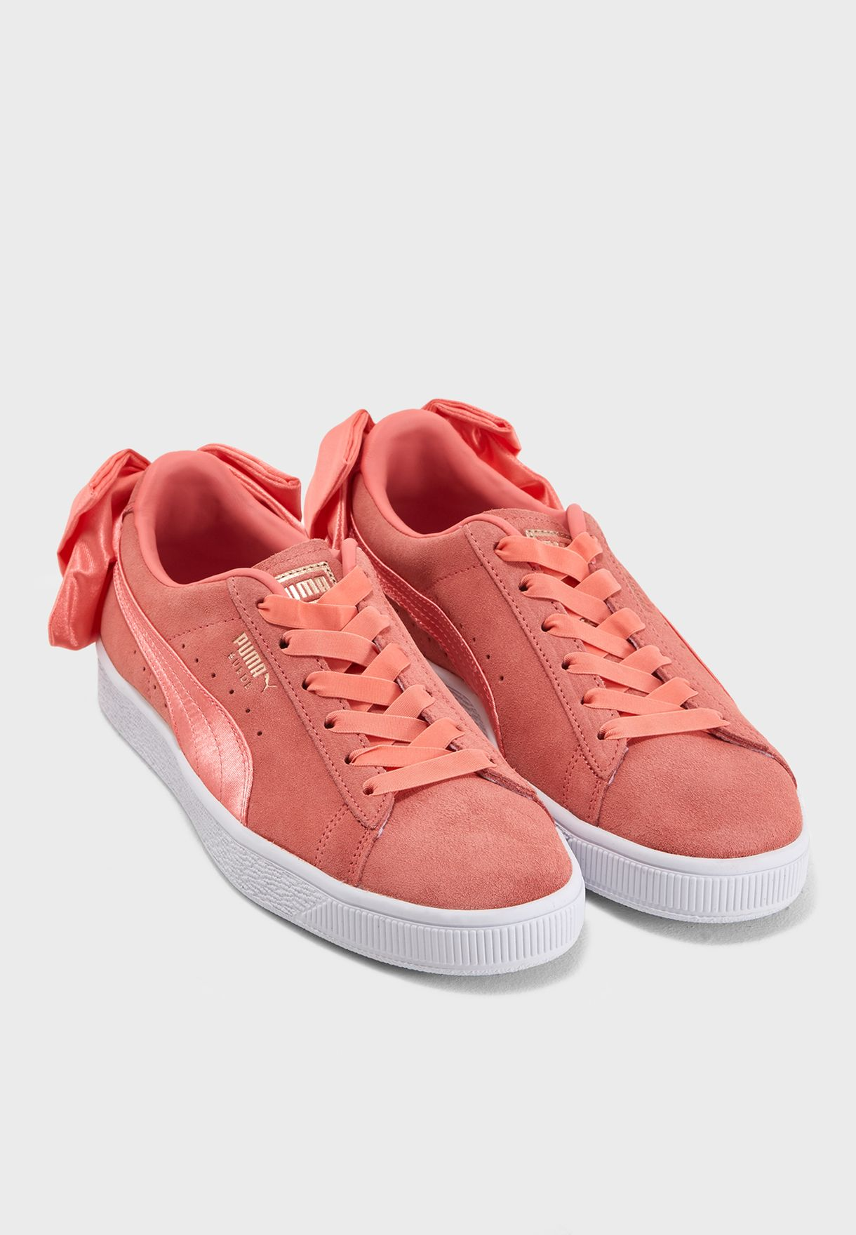 21f82290271d85 Shop PUMA pink Suede Bow 36731701 for Women in UAE - PU020SH40YJF
