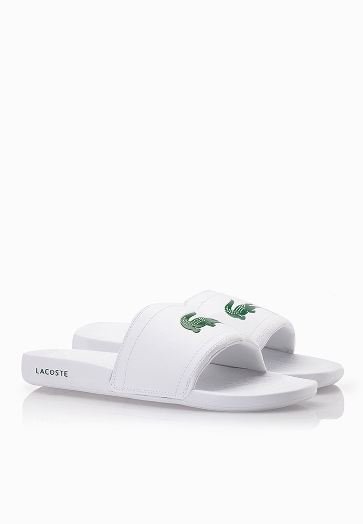 382353bf0cf680 Shop Lacoste white Fraisier BRD1 Sandals 29SPM0057-082 for Men in Qatar -  LA014SH40SXN