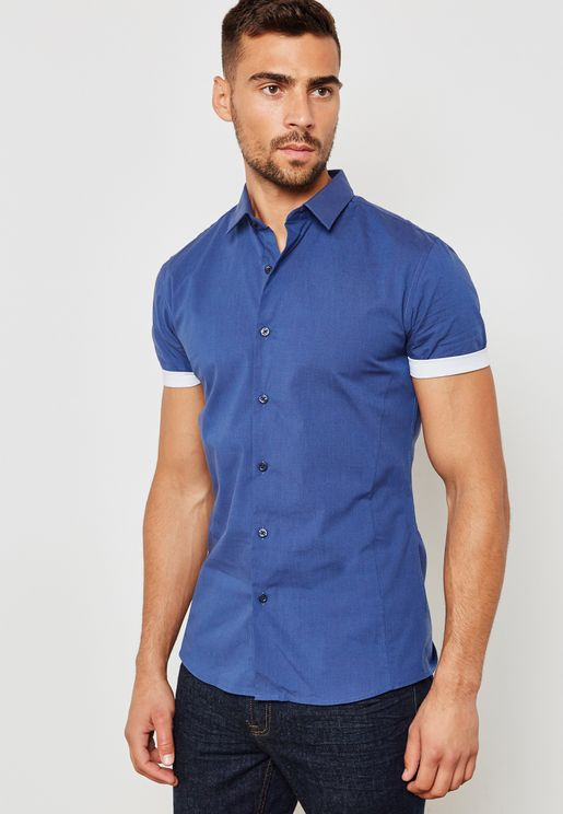 Turn Up Slim Fit Shirt