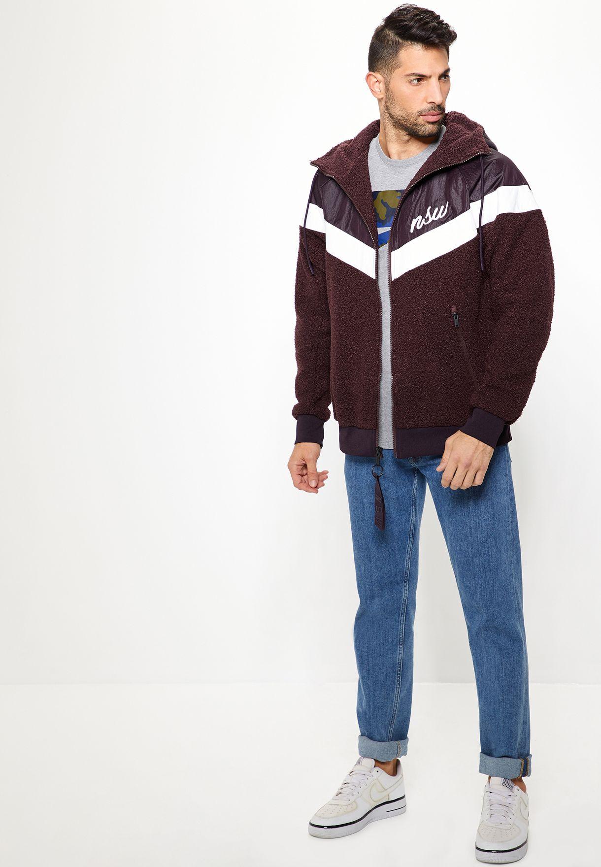 bambino vendita all'ingrosso stile popolare Shop Nike burgundy NSW Sherpa Windrunner 930316-659 for Men in ...