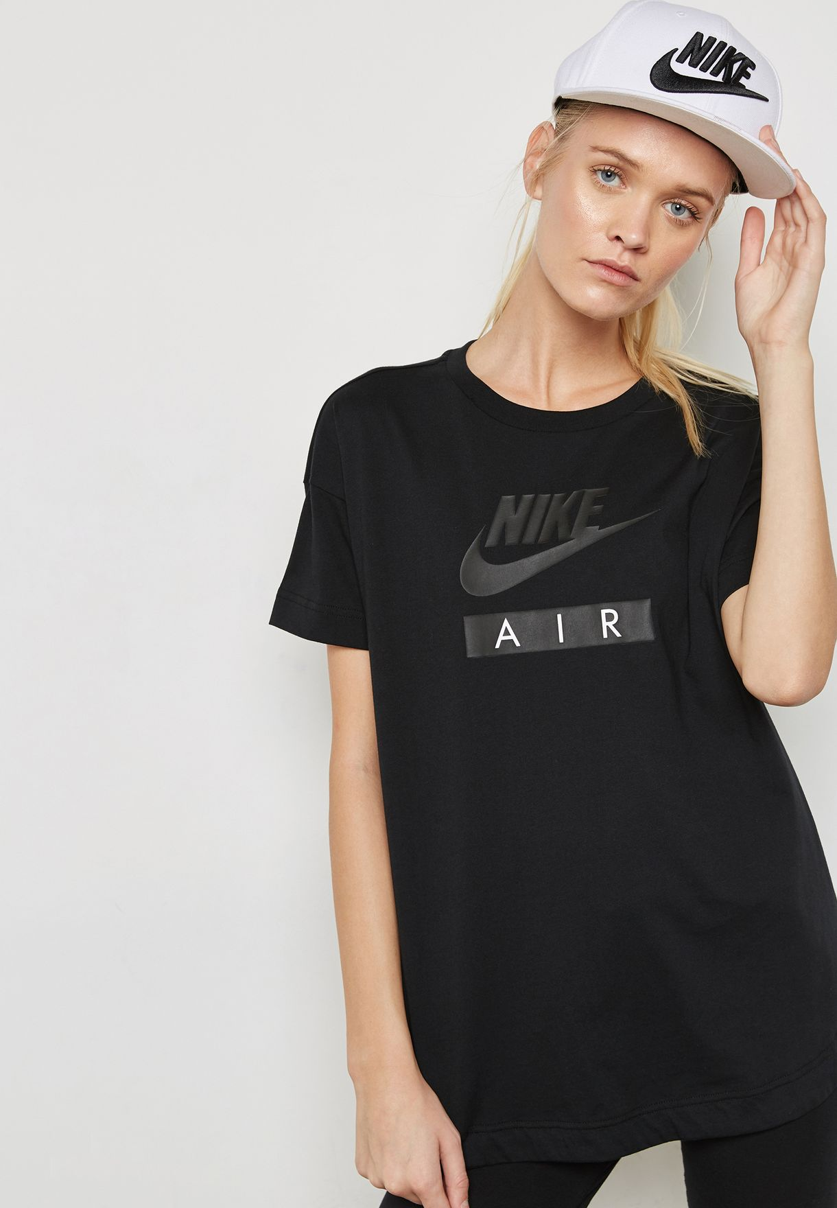 Shop Nike black NSW Air T-Shirt AA1720-010 for Women in UAE ... 38edff0fc3
