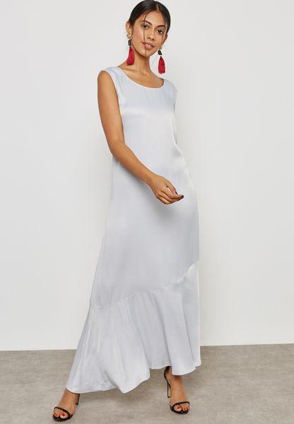 Satin Frill Dress