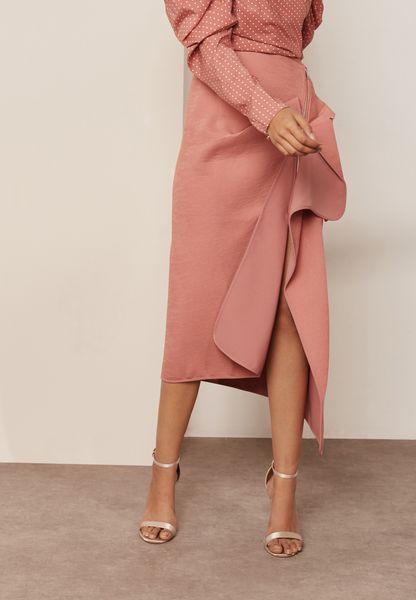 Asymmetric Zip Detail Skirt