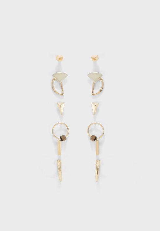 Multipack Vichy Earrings