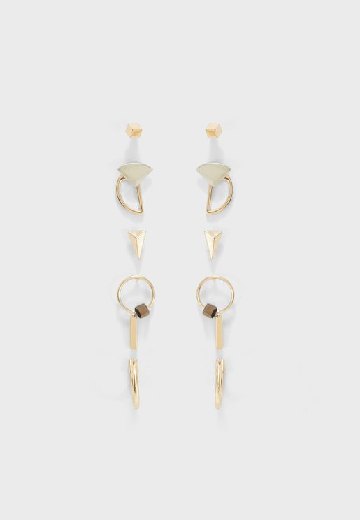 Multipack Vichy Earrings
