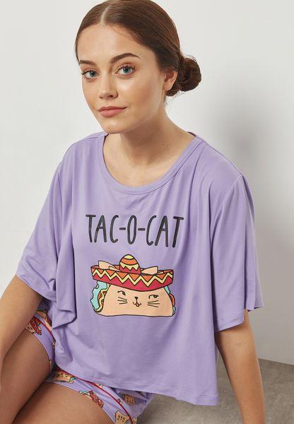 Taco Pyjama Shorts Set