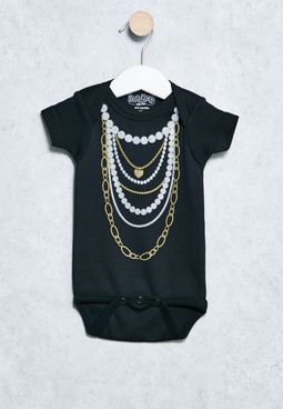 Infant Gold and Pearls Onsie
