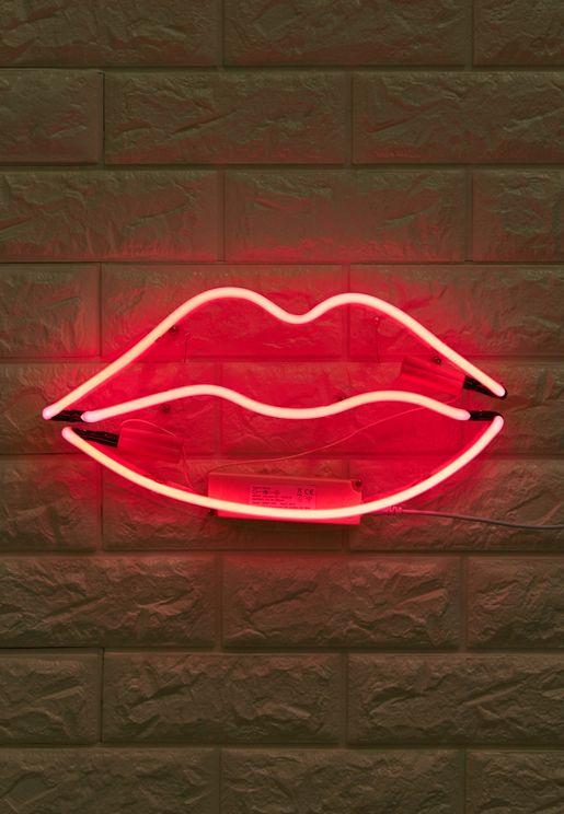 Lips All Neon Light