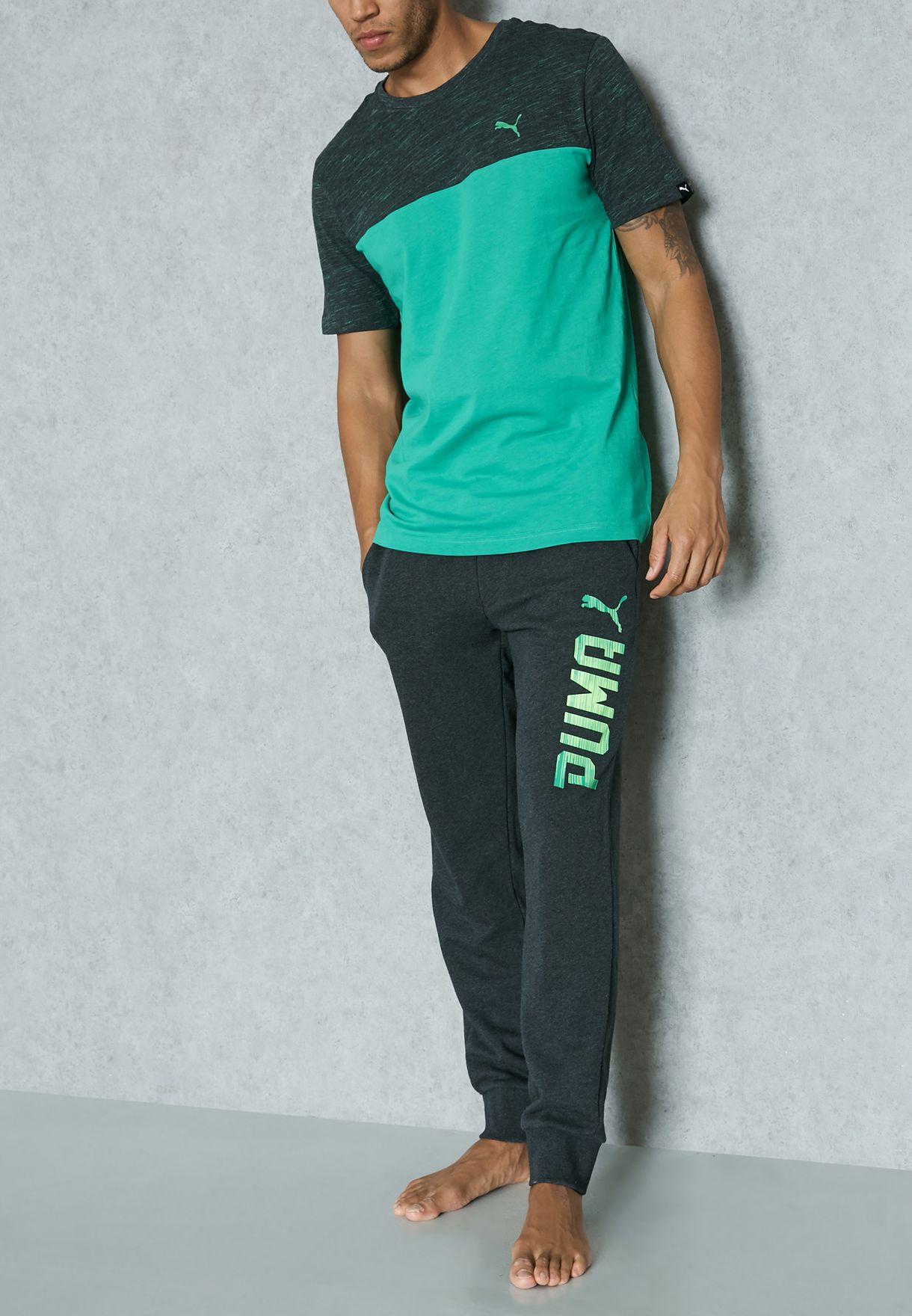 33e5093d7f39 Shop PUMA grey Rebel Cuffed Sweatpants 59061507 for Men in UAE ...