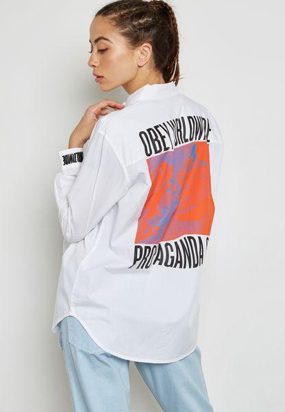 Slogan Back Shirt