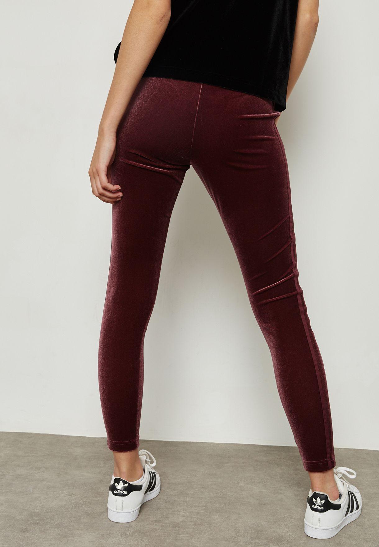 d44bec7eede43 Shop adidas Originals purple Velvet Vibes Leggings CW0276 for Women ...