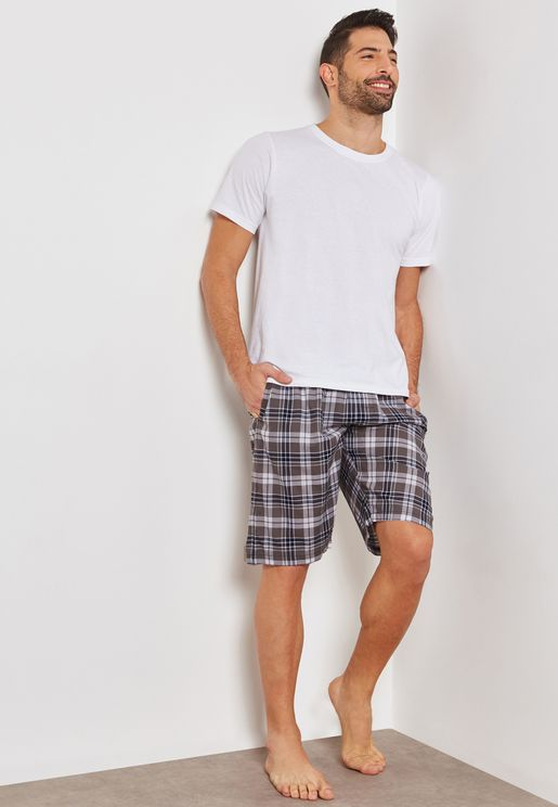 Pargas Checked  Lounge Shorts