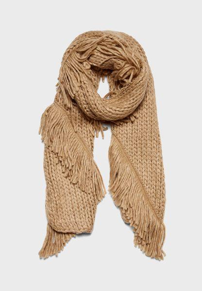 Chunky Knit Tassel Scarf