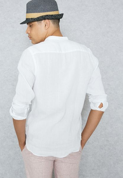 Shop mango man white chennai shirt 84037503 for men in for Linen shirts for mens in chennai