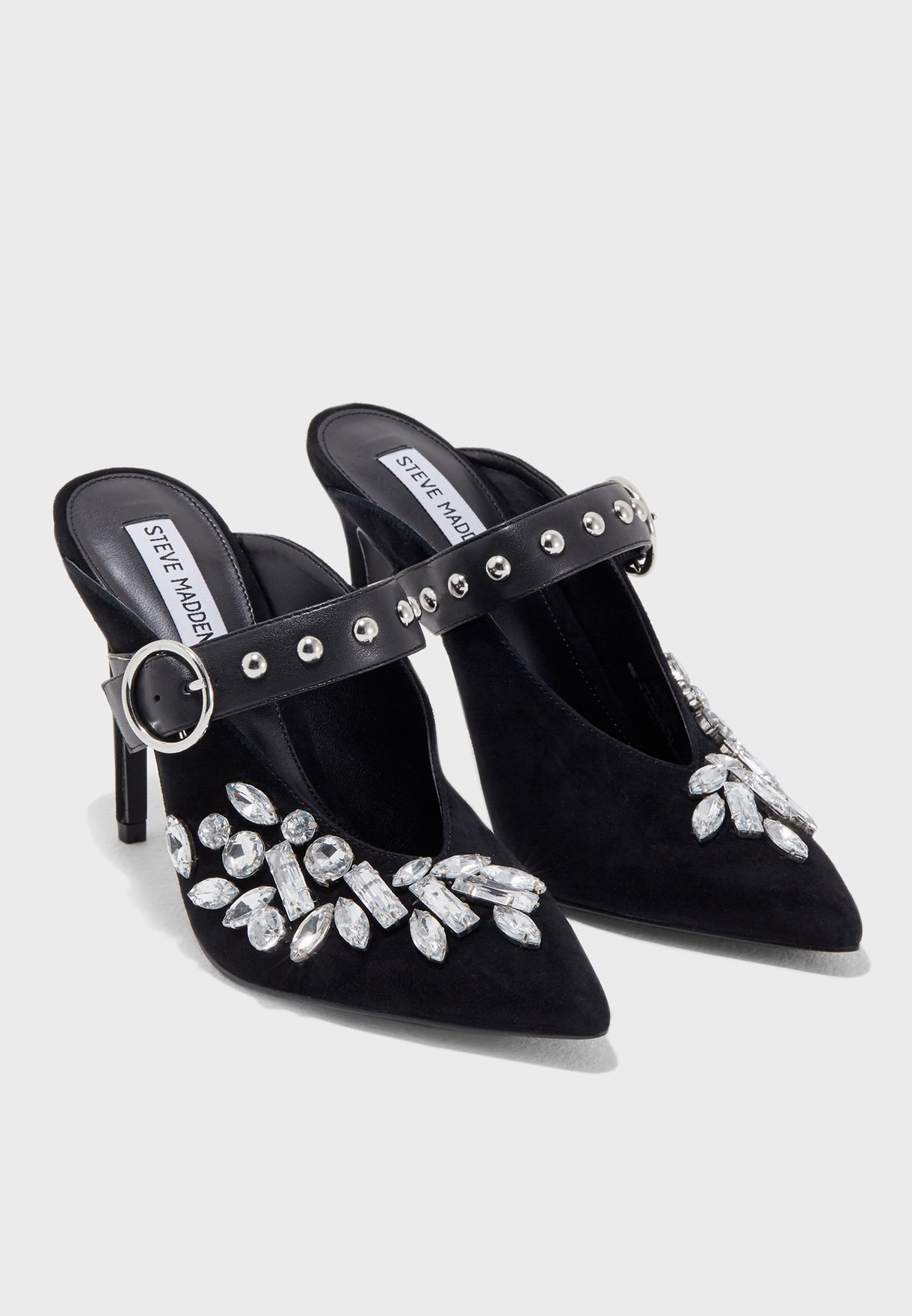 05836d24d33 Shop Steve Madden black Keep Embellished Mary Jane Pump KEEP for ...