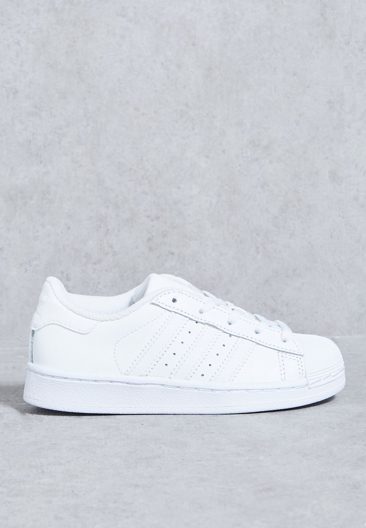 Shop adidas Originals white Superstar Foundation Kids BA8380 for Kids in  Qatar - AD478SH40UWH e05bd3fc6b747