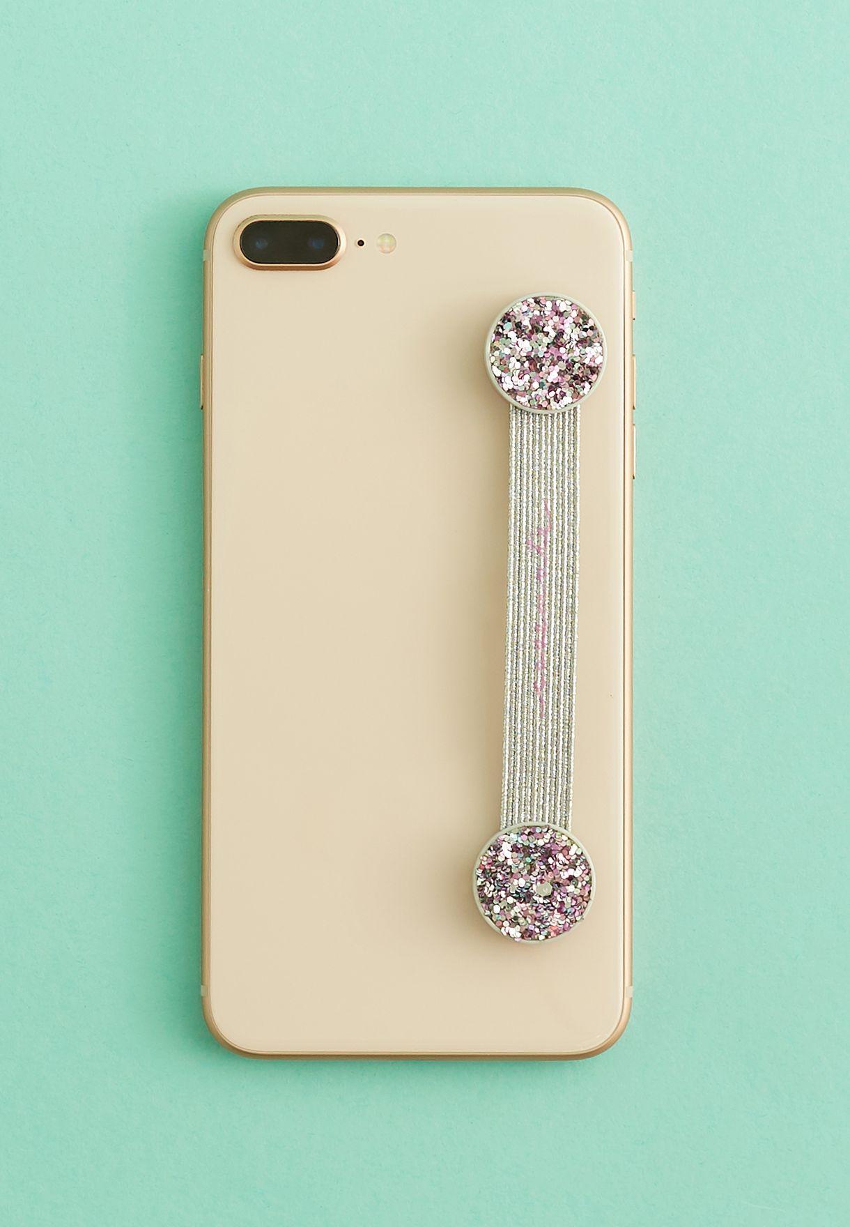 Glitter Strap Phone Holder