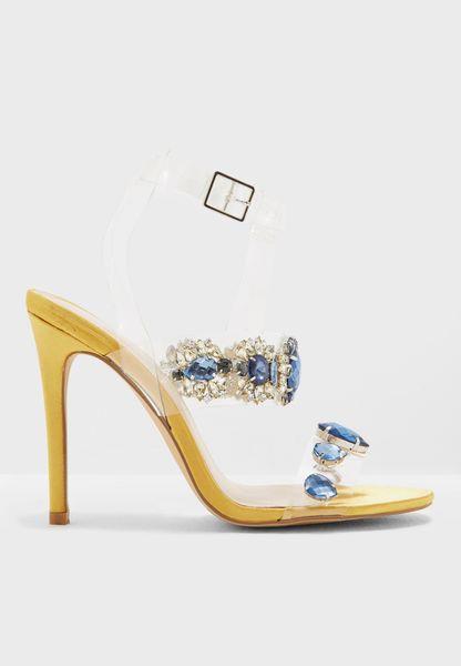 Bluebell Jewel Perspex High Heel