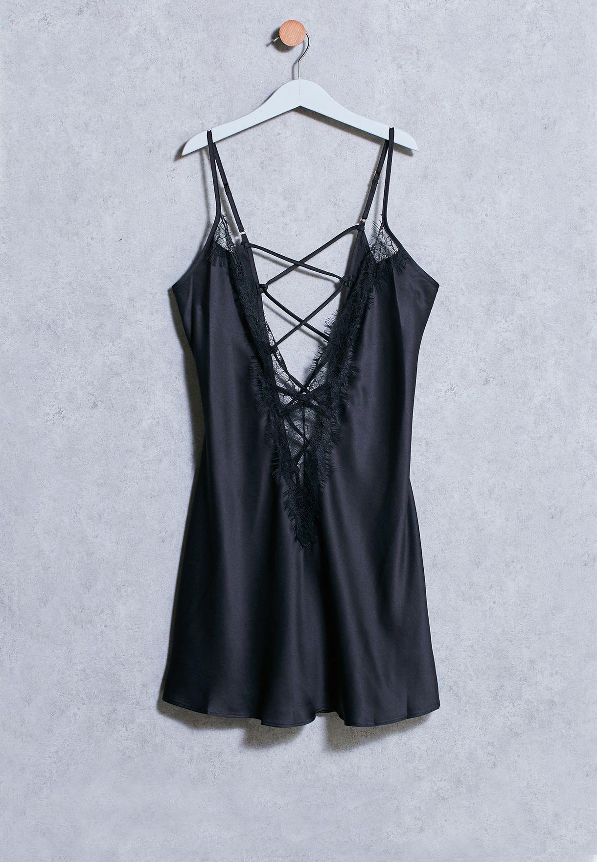 3a5124da936fb تسوق قميص نوم دانتيل ماركة آن سمرز لون أسود 02NWNSAS1151 في جميع ...