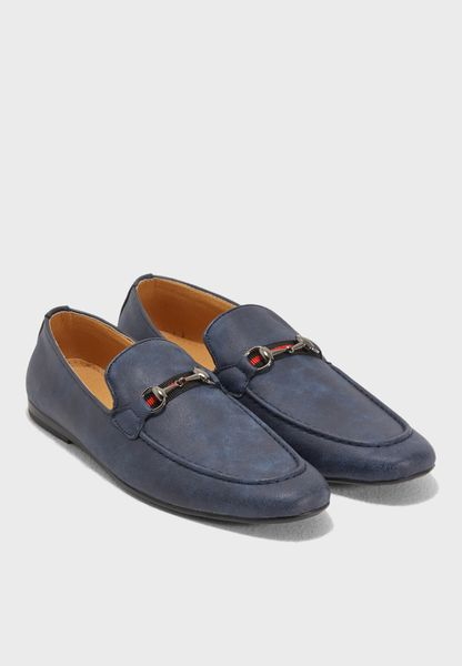 Webbing-Trimmed Formal Slip Ons