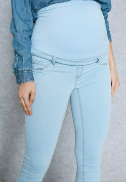 High Waist Maternity Skinny Jeans