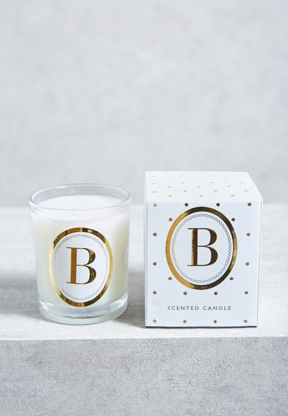 B Alphabet Votive Candle