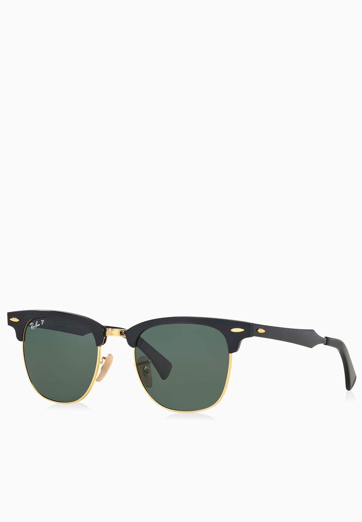 ab5461e630 Shop Ray-Ban black 0RB3507 Clubmaster Aluminum ...