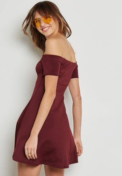 Forever 21. Bardot Skater Dress