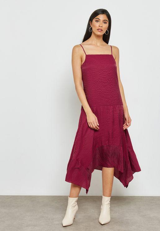 Asymmetrical Strap Maxi Dress