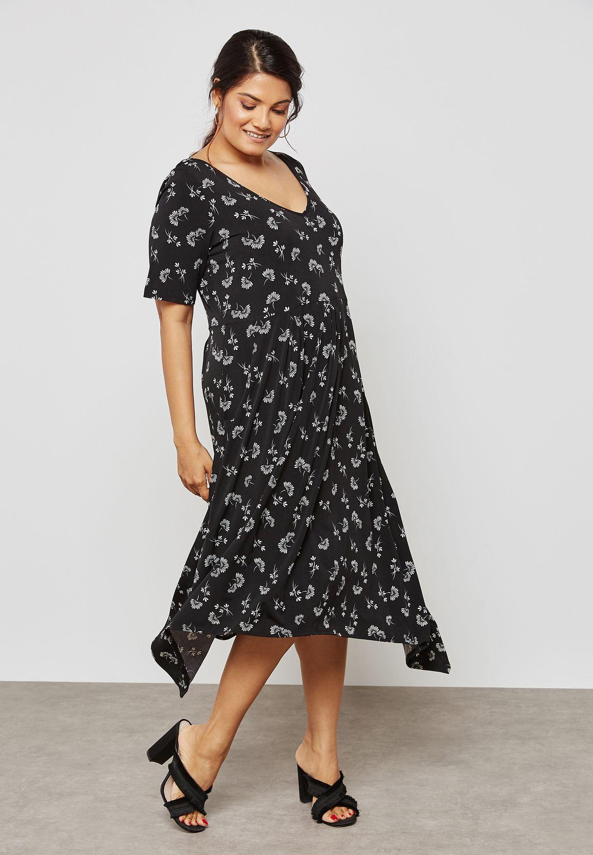 032a3ea39a Shop Evans prints Floral Print Skater Dress 04S20AMUL for Women in ...