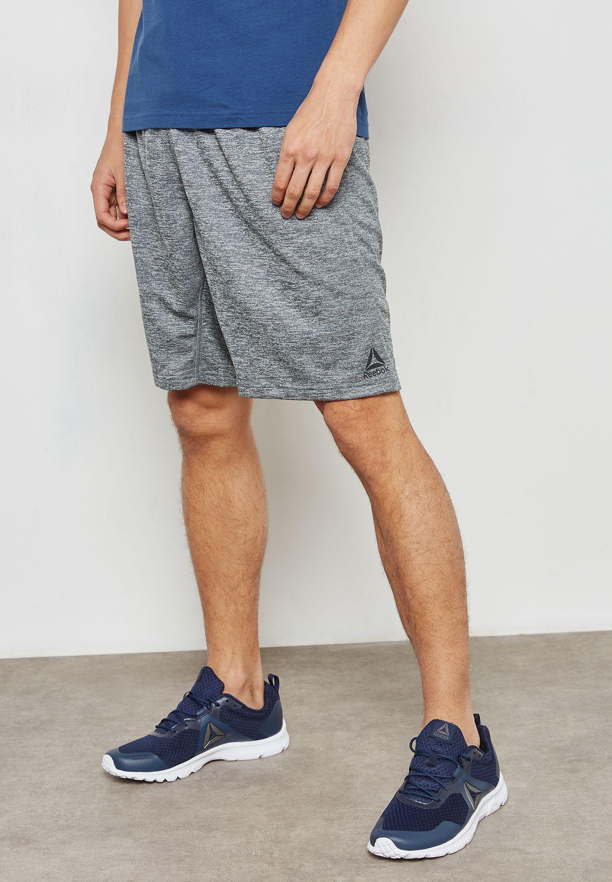 355235caab6 Shop Reebok grey Training Shorts CV8673 for Men in Bahrain - RE019AT30VEZ