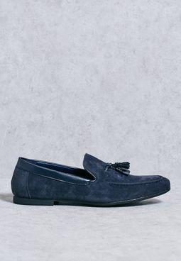 Faux Suede Tassel Loafers
