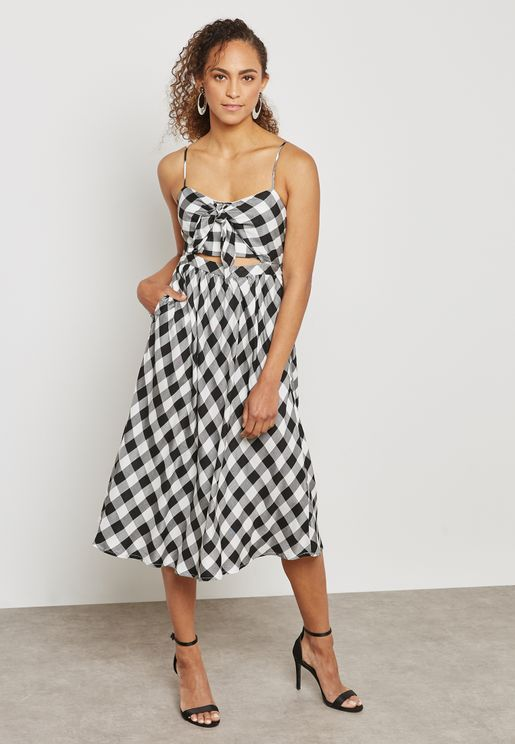Checked Bow Dress