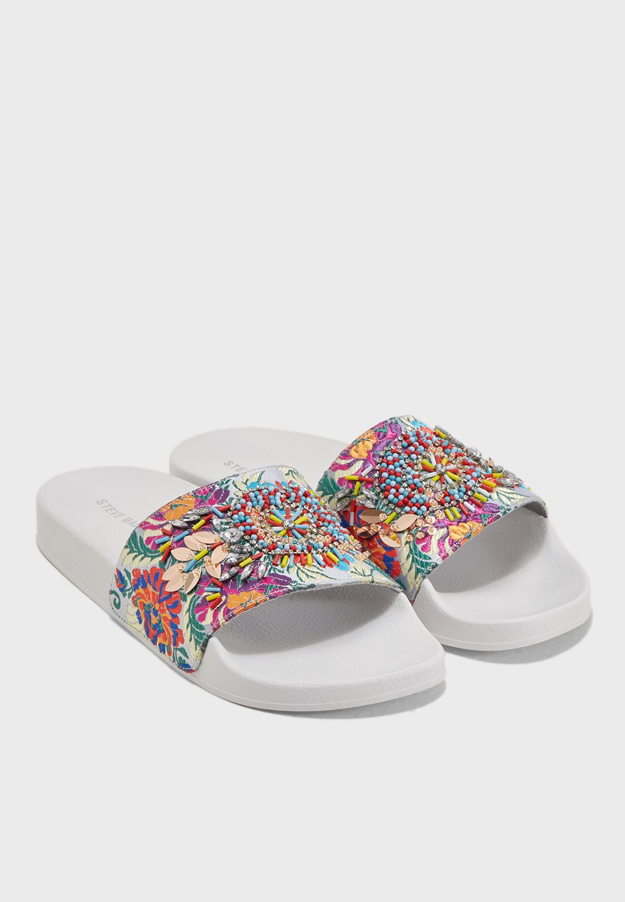 a698d730a Shop Steve Madden prints Sparkly Flat Sandals SPARKLY for Women in ...