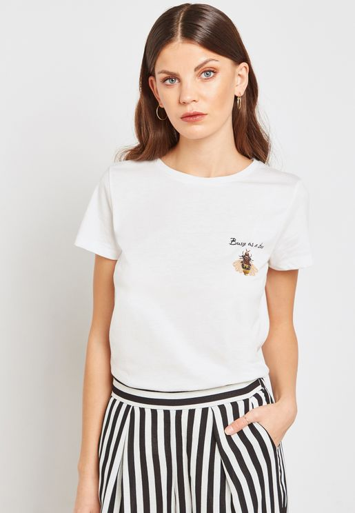 Busy As A Bee Slogan T-Shirt