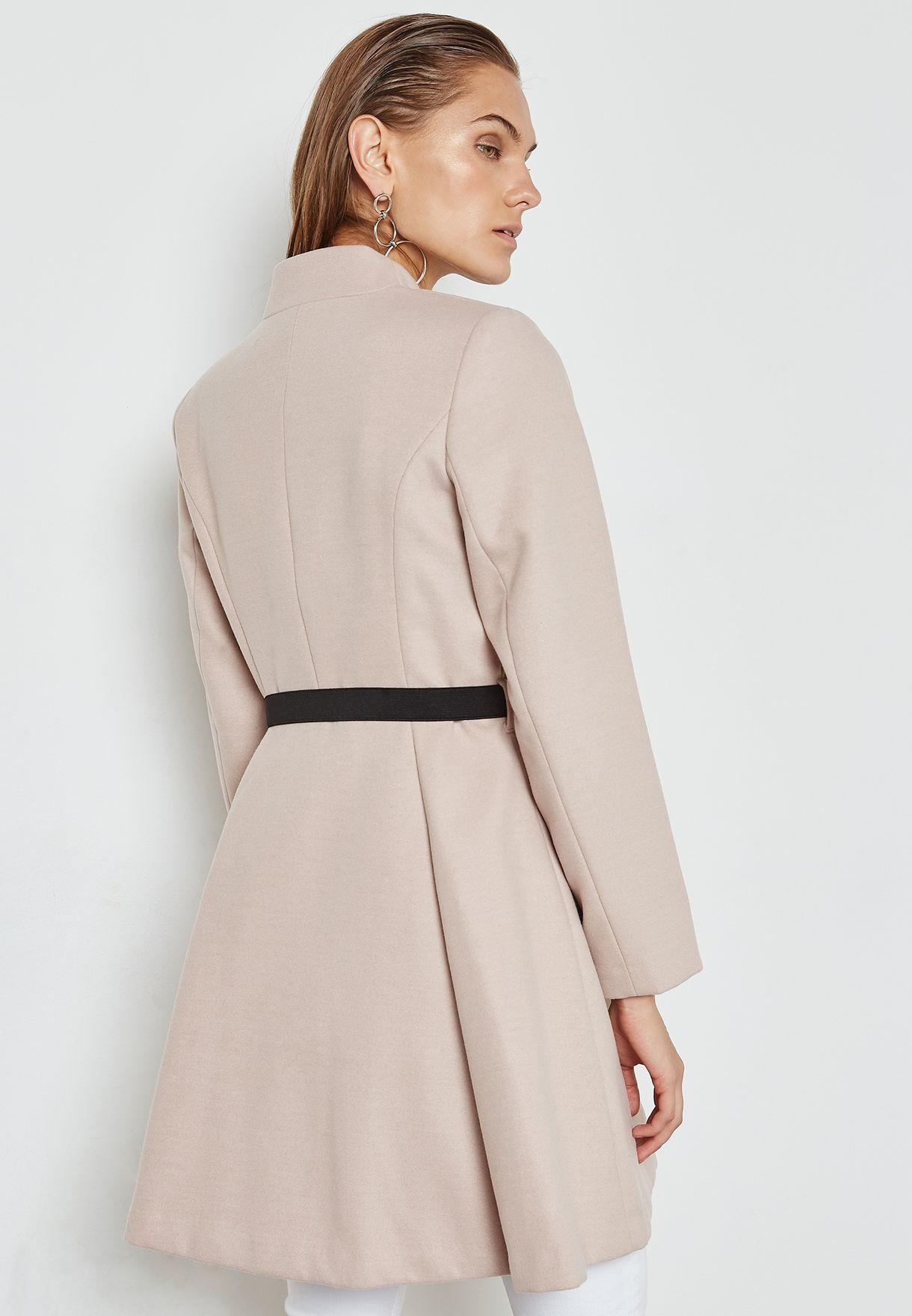 Belted Flare Coat