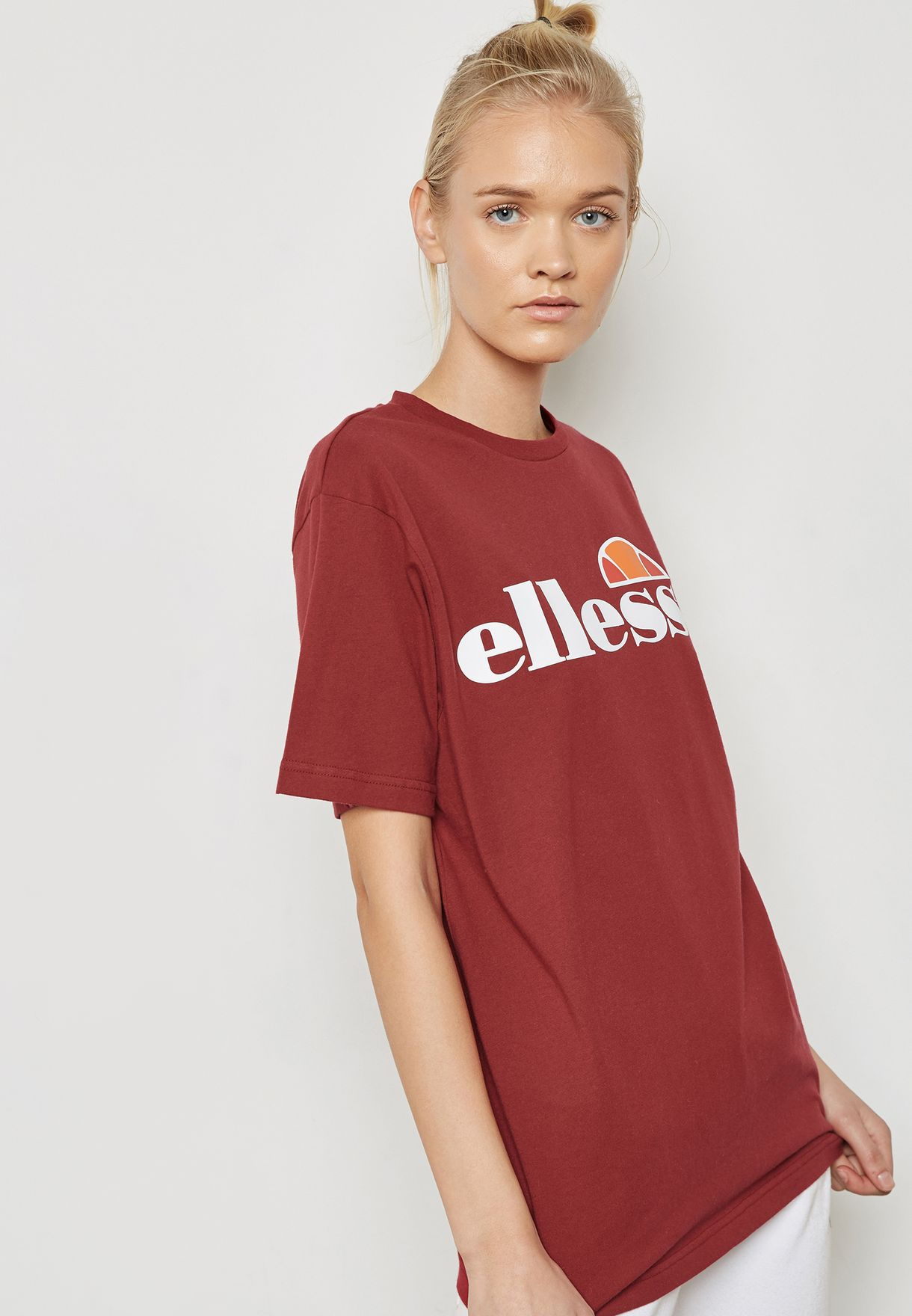 971e0b1fab39 Shop Ellesse red Albany T-Shirt SGS03237 for Women in Bahrain ...