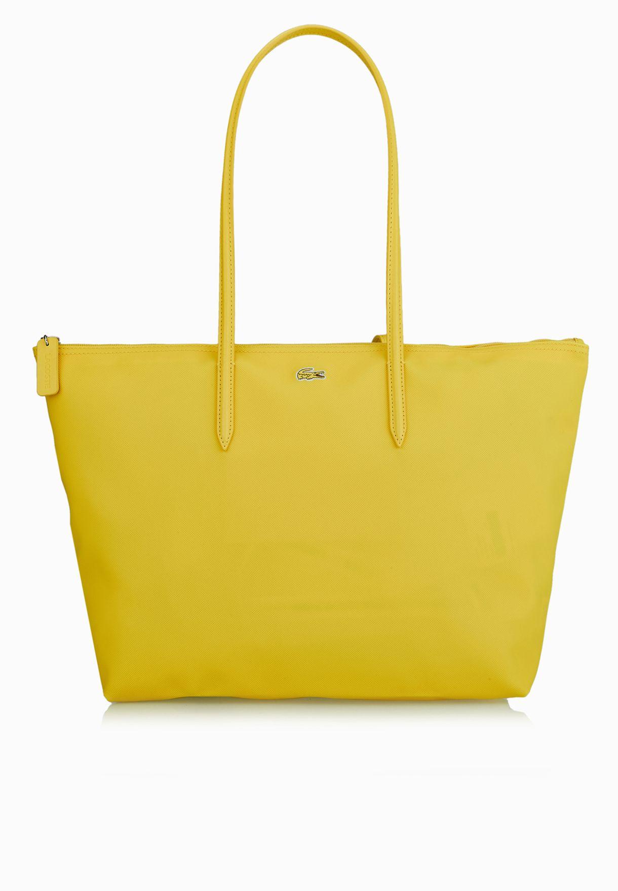 fafc2d10dfa9f3 Shop Lacoste yellow L1 Large Shopper NF1344PO-789 for Women in Saudi -  LA014AC30HVH