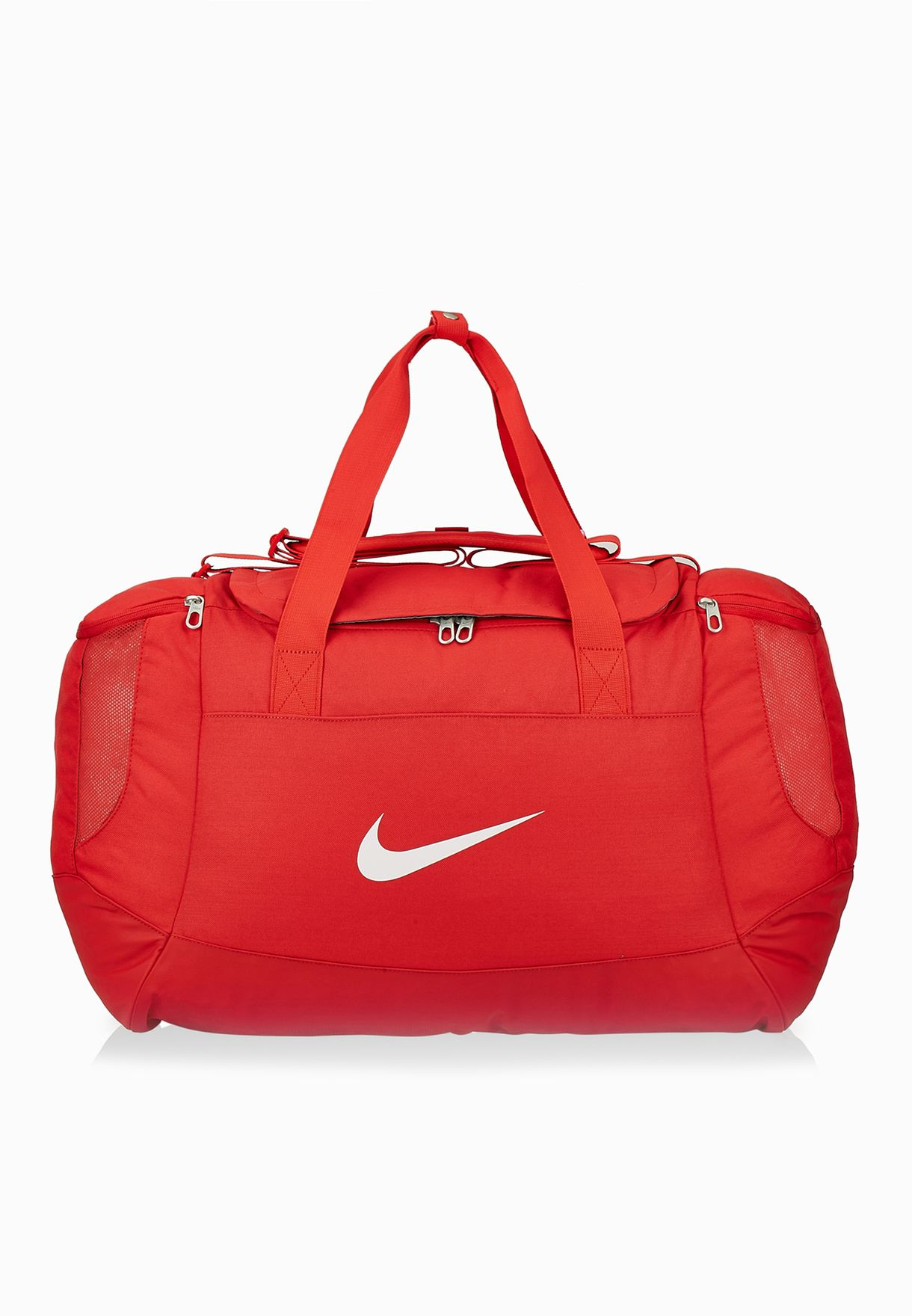 1b6dffb6ad426 Shop Nike red Medium Club Team Swoosh Duffel Bag BA5193-657 for Men ...